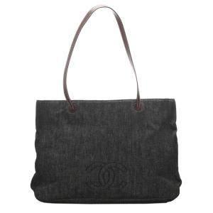 Chanel Blue/Navy CC Denim Tote Bag