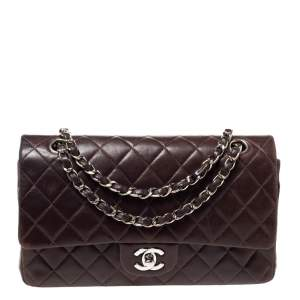 Chanel Dark Brown Quilted Leather Medium Classic Double Flap Bag