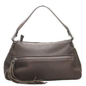 Chanel Brown Leather Tassel Leather Shoulder Bag