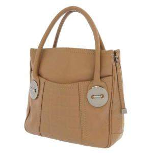 Chanel Brown/Beige Leather Choco Bar Soft Tote Bag