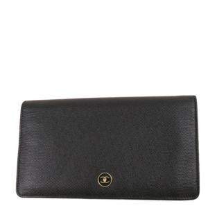 Chanel Black Leather CC Long Wallet