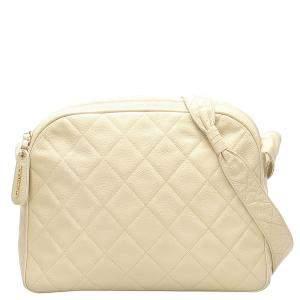 Chanel Brown/Beige Caviar Leather Crossbody Bag