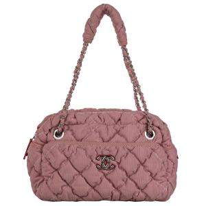 Chanel Pink Bubble Nylon Classic Shoulder Bag