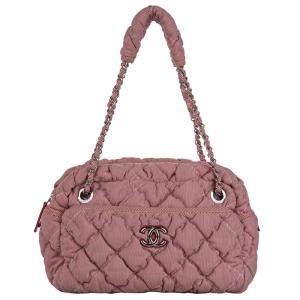 Chanel Pink Bubble Nylon Classic Shoulder Bag