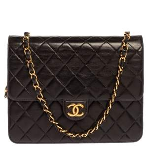 Chanel Black Quilted Leather Vintage CC Flap Bag