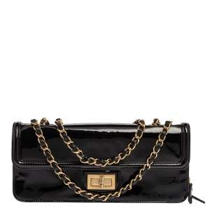 Chanel Black Patent Leather Reissue Shoulder Bag