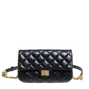 Chanel Black Quilted Leather Reissue 2.55 Belt Bag
