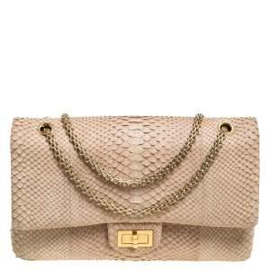 Chanel Beige Python Reissue 2.55 Classic 227 Flap Bag