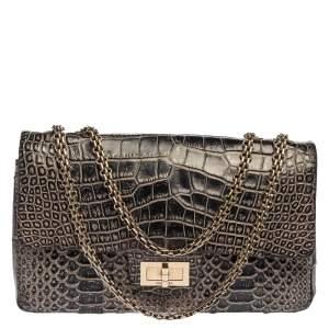 Chanel Black Crocodile and Python 2.55 Classic 226 Reissue Flap Bag