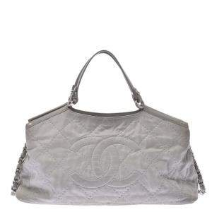 Chanel Grey Leather Iridescent Sea Hit bag