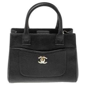 Chanel Black Grained Leather Mini Neo Executive Shopping Tote