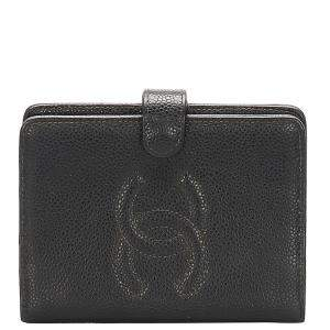 Chanel Black Caviar Leather CC Wallet