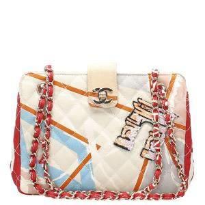Chanel Multicolor Canvas Printed Bag