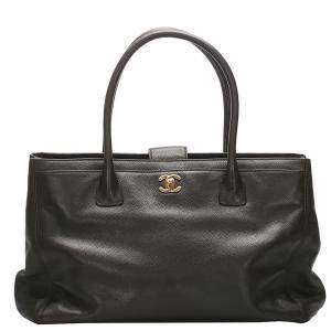 Chanel Black Caviar Leather Executive Cerf bag