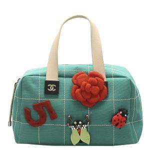 Chanel Green Leather  Wild Stitch Bag