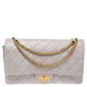 Chanel Icing Marble Quilted Leather Reissue 2.55 Classic 227 Flap Bag