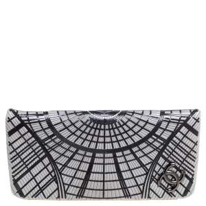 Chanel Grey Sequin Embellished Leather Grand Palais Clutch