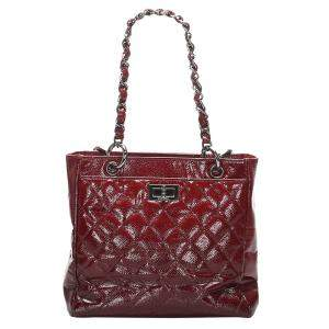 Chanel Red Caviar Leather Reissue Tote Bag