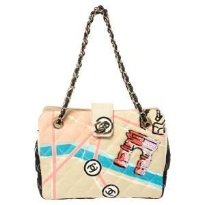 Chanel Multicolor Print Quilted Canvas Arc De Triomphe Shoulder Bag