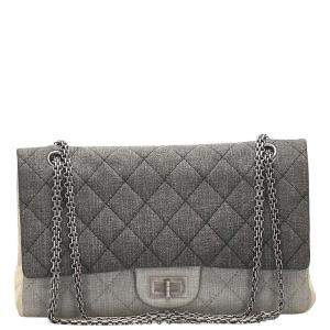Chanel Tricolor Quilted Denim 2.55 Reissue Bag