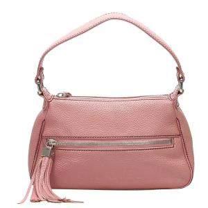 Chanel Pink Leather Tassel Vintage Shoulder Bag