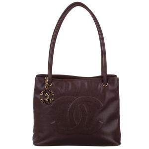 Chanel Burgundy Caviar Leather   Totes