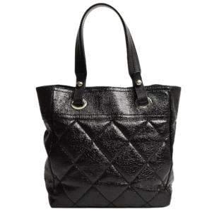 Chanel Black Leather Paris-Biarritz Tote Bag