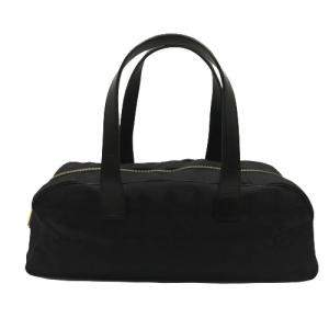 Chanel Black Jacquard Nylon Travel Line bag