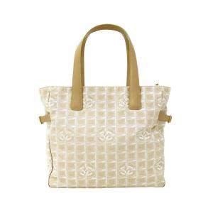 Chanel Beige Nylon Travel Line Tote Bag