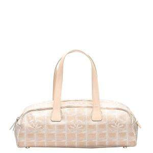 Chanel Cream Nylon Travel Line Boston Bag