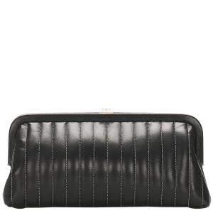 Chanel Black Leather Mademoiselle Ligne Clutch bag