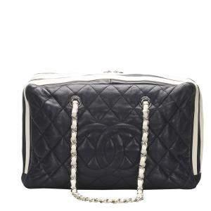 Chanel Black Leather CC Chain Bag