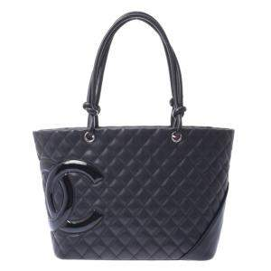 Chanel Black Lambskin Leather Tote Bag