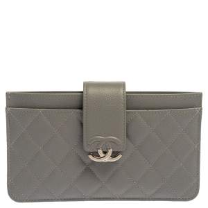 Chanel Quilted Leather Small CC Box Pouch