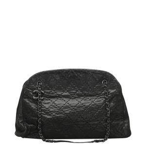Chanel Black Leather Just Mademoiselle Bowling Bag