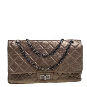 Chanel Bronze Quilted Leather Reissue 2.55 Classic 227 Flap Bag