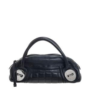 Chanel Black Caviar Leather Mini Bowling Bag