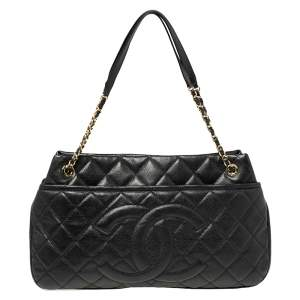 Chanel Black Caviar Leather CC Timeless Soft Tote