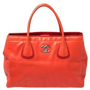 Chanel Red Leather Executive Cerf Shopper Tote