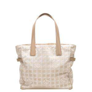 Chanel Beige/Brown Nylon New Travel Line Tote Bag