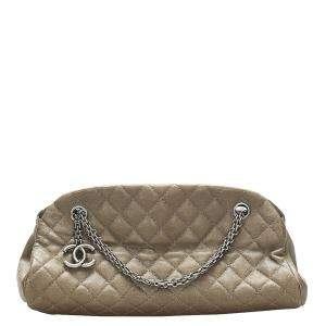 Chanel Brown Leather Just Mademoiselle Bowling Bag