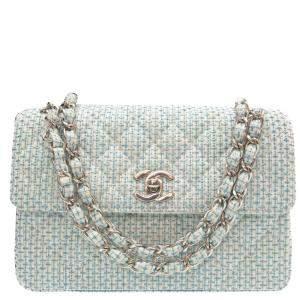 Chanel Blue Canvas Shoulder Bag