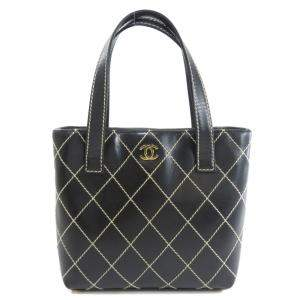 Chanel Black Wild Stitch Leather Tote Bag