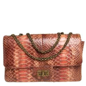 Chanel Ombre Red Python 2.55 Reissue Classic 226 Flap Bag