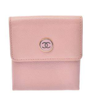Chanel Pink Leather CC Compact Wallet