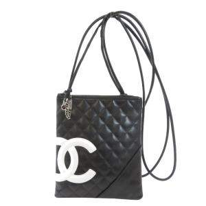 Chanel Black Leather Cambon Shoulder Bag