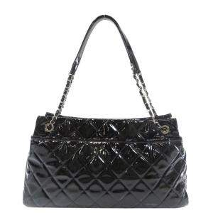 Chanel Black Patent Leather CC Shoulder Bag