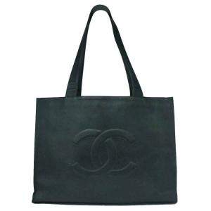 Chanel Black Leather Jumbo Extra Large Tote Bag