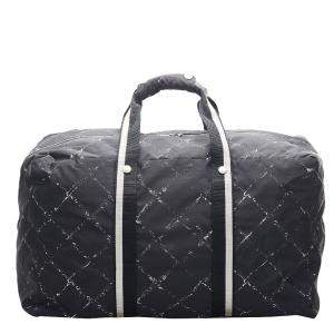 Chanel Black Nylon Travel Line Travel Bag