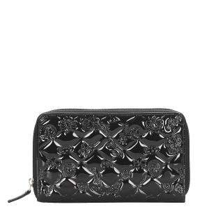 Chanel Black Patent Leather Quilted Wallet